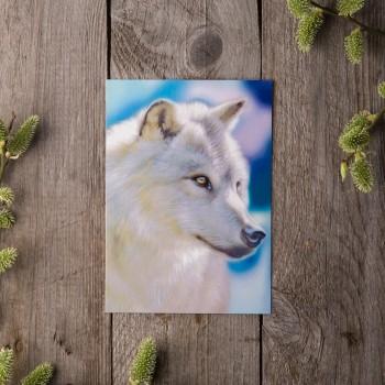 """Открытка """"Белый волк"""""""