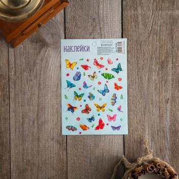 """Наклейки бумажные """"Бабочки"""", 11х16см"""