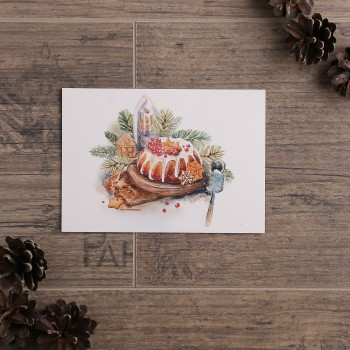 """Открытка """"Рождественский кекс"""""""