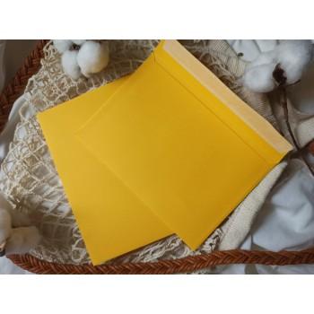 Конверт из цветной бумаги С6 (114*162) желтый