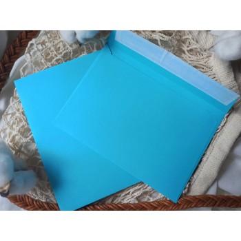 Конверт из цветной бумаги С6 (114*162) голубой