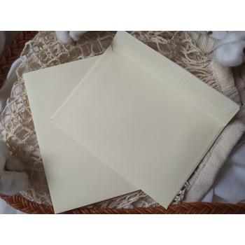 Конверт из цветной бумаги С6 (114*162) кремовый