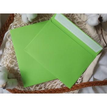 Конверт из цветной бумаги С6 (114*162) зеленый