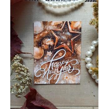 """Мини-открытка """"Happy new year"""""""