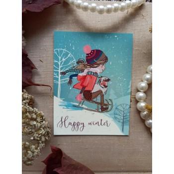 """Мини-открытка """"Happy winter"""""""