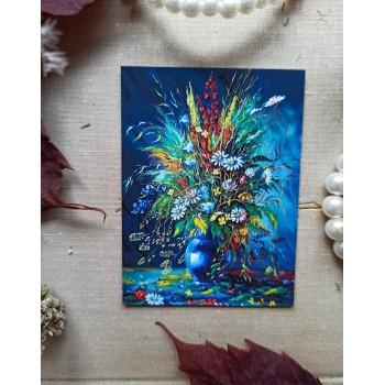 """Мини-открытка """"Ваза с цветами"""""""