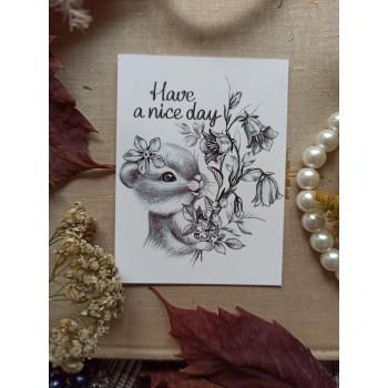 """Мини-открытка """"Бурундук. Хорошего дня"""""""
