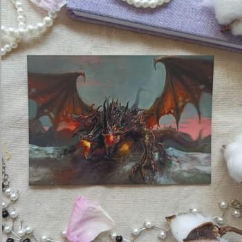 """Открытка """"Трехглавый дракон"""""""