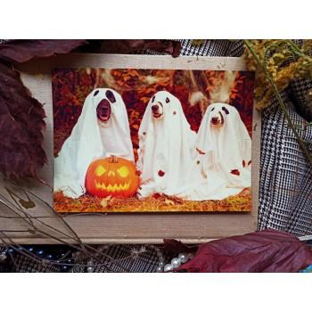 """Открытка """"Отмечаем хэллоуин"""""""