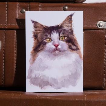 """Открытка """"Норвежская лесная кошка"""""""